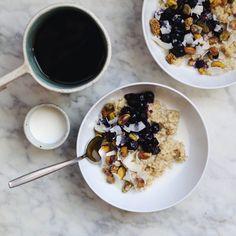 Creamy Quinoa Porridge with Blueberry Compote - In My Bowl