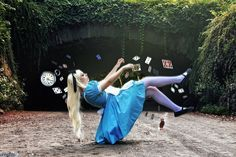 Alice - Falling down the rabbit hole by CrystalPanda.deviantart.com on @deviantART