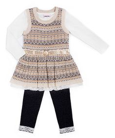 f8475be35c Gray Fair Isle Jumper Set - Infant