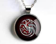 House Targaryen Game of Thrones Necklace. I want this.