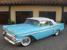 1958 Tropical Turquoise Chevy Impala Convertible