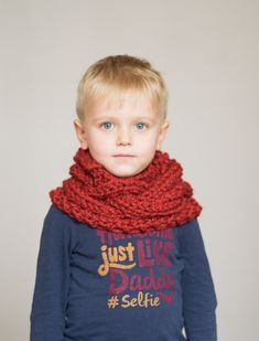 Children's chunky cowl scarf