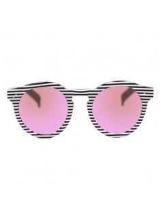 Illesteva Leonard II Sunglasses - Stripe/Pink #loveglasses @philoving wephilo.tumblr.com
