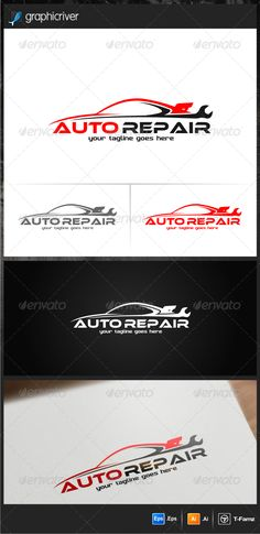 Auto Repair Logo Templates vector -AI,EPS files -Resizable easy to edit the text and slogan Full Inst Car Repair Service, Auto Service, Ad Design, Logo Design, Design Ideas, Graphic Design, Automotive Logo, Automotive Group, Font Names