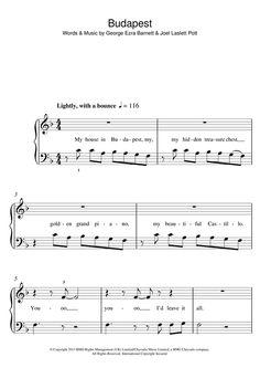 George Ezra: Budapest - Partition Piano Facile - Plus de 70.000 partitions à imprimer !