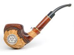 "Odin's Tobacco Smoking pipe "" Viking Valknut"" Hrungnir's Heart, Knot of the slain, Great  Viking, Norse, Germanic/Scandinavian Collectible. $36.99, via Etsy."