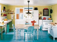 looking to redesign my kitchen at home into something bright and cheery. this is cute.    thekitchn.com