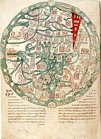 Mapa del mundo (Isidoro de Sevilla, Etymologiae) CLM 10058 154v