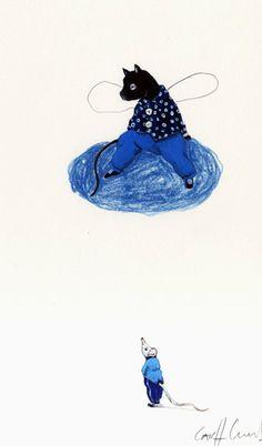 Illustration originale de Carll Cneut - En haut, en bas   Oeuvres   Galerie Robillard