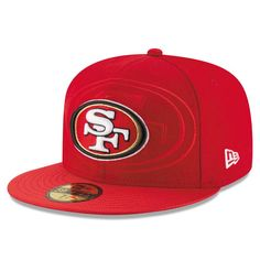 San Francisco 49ers New Era Youth 2016 Sideline Official 59FIFTY Fitted Hat - Red
