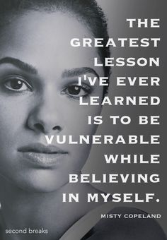What Misty Copeland said...