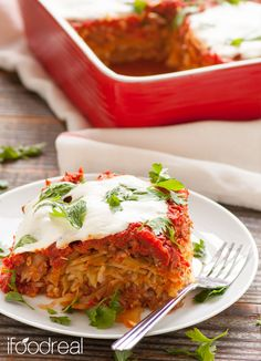 Easy & Healthy Cabbage Rolls Casserole. 280 calories. Recipe from iFOODreal.