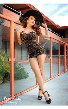 Marilyn Swimsuit in Leopard