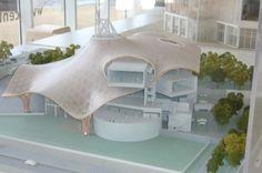 Model. Centre Pompidou-Metz, France, 2010   Shigeru Ban and Jean de Gastines Maquette Architecture, Parametric Architecture, Architecture Concept Drawings, Parametric Design, Classical Architecture, School Architecture, Sustainable Architecture, Architecture Design, Architecture Models