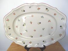 "Vintage Mint Villeroy & Boch Petite Fleur 17"" Oval Porcelain Platter #VilleroyandBosh"