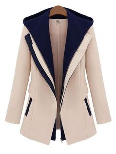 Fancy Hooded With Pockets Assorted Colors Overcoats