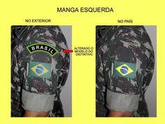 Bandeira Do Brasil Emborrachada Padrão Rue Para Uniforme Cmf