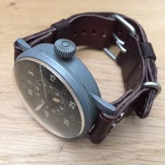 """Customer pics by Johan from Belgium  Vinatge B-Uhr snapped on custom made DStrap"""