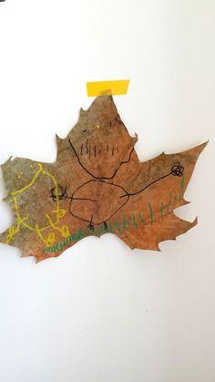 Beautiful leaf decorated by Malah, 2015.