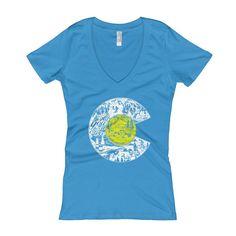 Love Colorado Flag - Women's V-Neck T-shirt