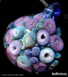 Fiji Reef pendant by Stephan Hagstram, Napa, Idaho - this lampwork pendant is astounding!!!