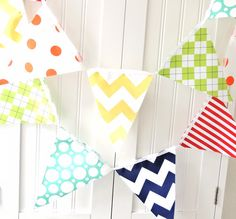 9 Feet Banner 21 Flag Bunting Yellow by vintagegreenlimited, $32.00