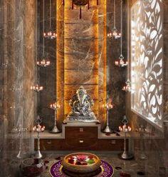 Pooja Units – Home Interior Designers in Banashankari – Home Decors in Bangalore – Interior 2020 Pooja Room Door Design, Home Room Design, House Design, Temple Room, Home Temple, Altar, Temple Design For Home, Mandir Design, Puja Room