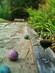 wine and bocce ball - perfect afternoon