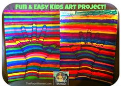 Cool Art Project for Kids!  (through the eyes of an 8 yr old)