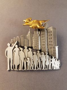 """Rare Vintage JJ When Pigs Fly Brooch. Measures about 2 1/4"""" by 2"""""""