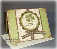 Shamrock  St Patrick's Day  Handmade Card