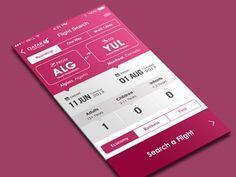 Flight App Iphone IOS 7 #V2 by Yasser Achachi