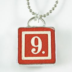 Number 9 Pendant by XOHandworks $20