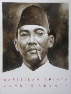 """Warisilah Apinya, Jangan Abunya"" -- diperkirakan karya lukis F. Sigit Santosa: http://www.artnet.com/artists/f-sigit-santosa/past-auction-results"