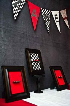 Race Car Cars Boy Racing Diner 50's 1st Birthday Party Planning Ideas