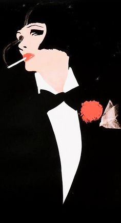 1920's Style Fashion Illustration, by Rene Grau.