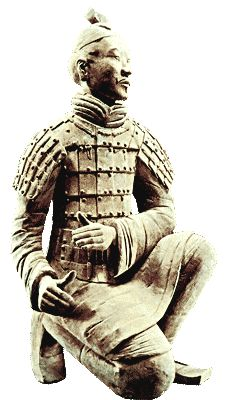 The Ch'in Emperor's Terracotta Warriors - Kneeling Soldier china