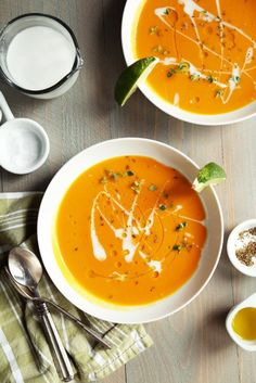 Carrot Coconut Red Curry Soup // joy the baker