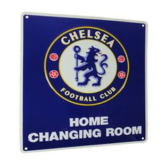 CHELSEA Home Changing Room Metal Sign. Approx 23cm x 25cm. Official Licensed Chelsea metal sign. FREE DELIVERY ON ALL OF OUR GIFTS