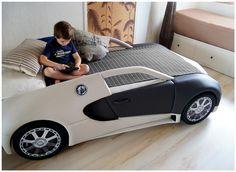 Ручная работа Детская кровать-машина BugaTTi Veyron. Кожа.