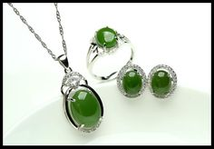Free shipping, $320.05/Pieza:buy wholesale Jade natural y nefrita pendientes pendientes de jade conjunto 925 anillo de plata esterlina conjunto con tres piezas de joyería de la boda from DHgate.com,get worldwide delivery and buyer protection service.