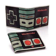 Nintendo Controller Bifold Wallet - potentially great present for BIL Nerd Merch, Nintendo Controller, Men Necklace, Toy Store, Cool Gadgets, Cool Stuff, Stuff To Buy, At Least, Everything