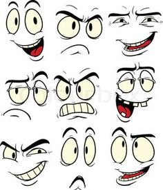 Cartoon Facial Expressions Vector Illustration Each Stock Vector (Royalty Free) 91977185 Human Face Drawing, Drawing Cartoon Faces, Cartoon Eyes, Cartoon Art, Cartoon Faces Expressions, Cartoon Expression, Drawing Expressions, Graffiti Characters, Silly Faces