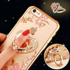 "Luxury Diamond Ring Holder Stand Case For iphone 6 6S 4.7"" 6 6s plus 5.5"