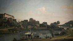 Pirna dal villaggio dei pescatori 1753 1755  Dresden.  Gemäldegalerie Alte Meister.