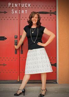JaniJo: Pintuck Skirt