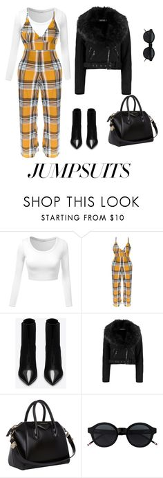 """""""8:14"""" by littleprincess18 on Polyvore featuring Yves Saint Laurent, Boohoo, Givenchy and jumpsuits"""