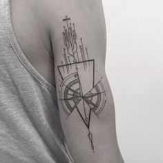 Tatto Ideas 2017  Geometric Compass Tattoo Design by Balazs…