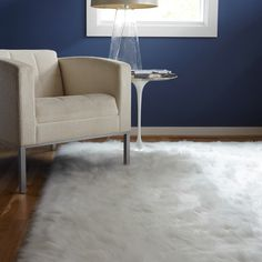 Jungle Sheep Skin White Rug (3' x 5') - Overstock™ Shopping - Great Deals on Alexander Home 3x5 - 4x6 Rugs