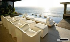 Lounge area with ocean view